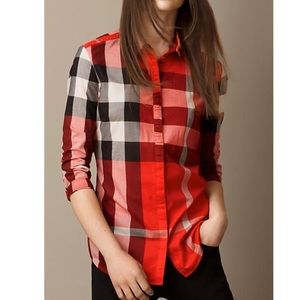 Burberry Brit Check Button Up Top